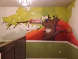 Calvin & Hobbes Nursery Mural