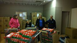 Your community brought how many gift boxes - over 600 - that's a 'Wow' story as Bev would like to say