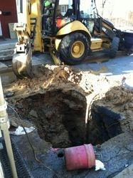 back hoe Excavation