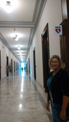 Vickie in Halls of Congress