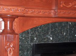 german beech mantel close up