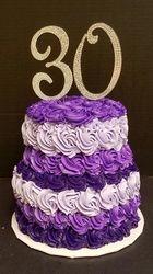 Purple and Lavender Rosette Cake