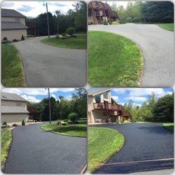 Before and after asphalt restore