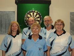 Teams Winners - Connie Spinks, Ruth Harper, Bev Davies, Bill Muncaster & Jim Davies