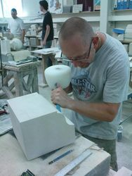 James at the Building Crafts Traning College