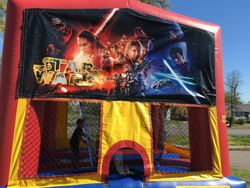 Funhouse with Star Wars banner