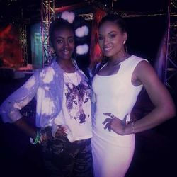 "Demetria McKinney & Sharve' At ""Kevin Hart's All White Party"" in New Orleans"