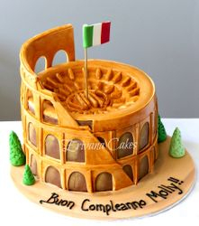 Roman Colosseum Cake (Night View)