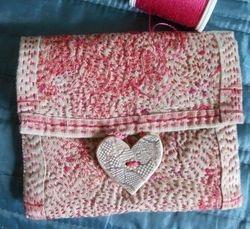 Tiny Kantha Stitched Purse