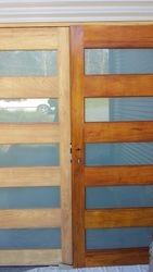 Weather beaten doors refinished