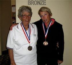 Bronze flight winners- Jean Sundgren & Karen Lafferty