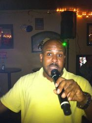 K.D. bringing it to the crowd at Carmen & Patty's Birthday Celebration (502 Bar Lounge's Social Saturday Karaoke Night)!