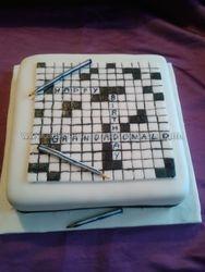 crosward puzzel cake