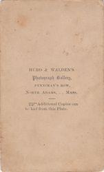 Hurd & Walden of North Adams, MA - back