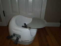 Bumb0 Floor Seat with Tray, Booster Seat & High Chair - $40