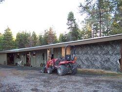 Shedrow barn, tackroom, and hay room