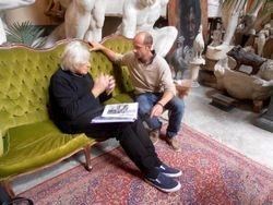 Mike meeting with Raffaello Romanelli @ Galleria Romanelli Studio, Firenze.