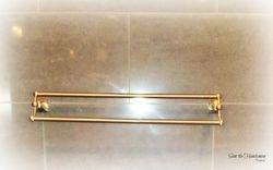 Bathroom fixture installation on Marble