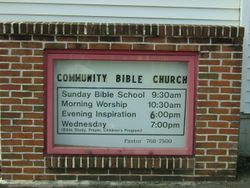 Original Church Sign