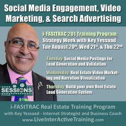 Week of August 20th Sessions: Social Media Engagement, Video Marketing, and Search Advertising - #LiveTrainingRE
