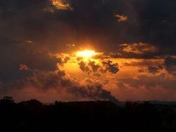 Sunset over Gaza