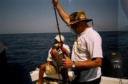 Fishing on one of the trips