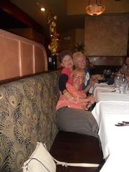 Rita, Barb, & Sue having fun at dinner