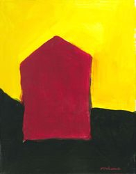 Red ArtHouse, Acrylic, 11x14, Original Available