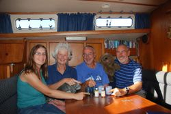 Drinking Norwegian Blue's whisky with Dave and Elaine