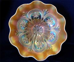 Flowers and Frames dome ftd bowl, peach opal