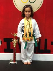 06/7/2015 Metro Open TKD Championship  Madelyn Duran 1st Place Forms 1st Place Breaking 1st Place Sparring