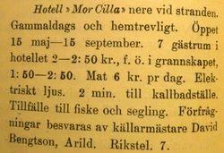 Hotell Mor Cilla 1920