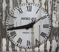 #21/089 Metal Clock Face Beziers