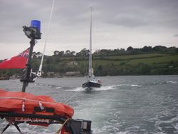 ILB towing sailing yacht 'Prudence'