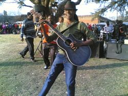 MMELLY SHANGASE ON STAGE AT JEPPE IN JULY