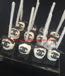 Chanel Inspired Cake Pops