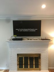 Fireplace tv wall installation in Washington DC