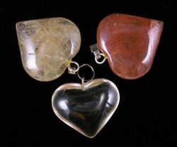 09-00347 Rutilated Quartz Heart Pendants