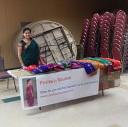 Peshwai Nauwar booth at Maharashtra Mandal Bay Area Ganesh Utsav exhibition, USA