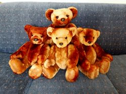 Family of fur-bears made from a vintage fur coat