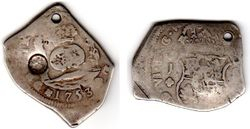1753 Guatemala 8 Reales Cob