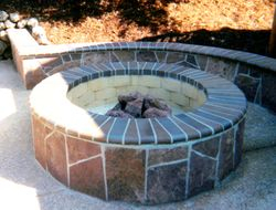 wood fired fire-pit