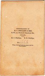 H. C. Phillips & Bro., photographers of Philadelphia, PA - back