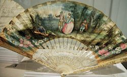 French, Fan with a Pastoral Dance, C1750, Ringling web
