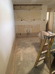 old wet bar area