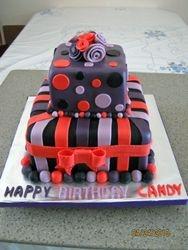 CAKE 18A2- Stripes & Dots Cake 1