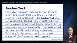 Anchor Text - SEO Short Definition for Real Estate