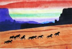 Horses In Grand Canyon  2