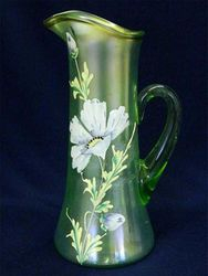 (Enameled) Dianthus tankard water pitcher, ice green