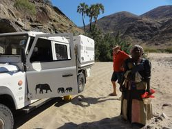 the Himba lady who showed us the way